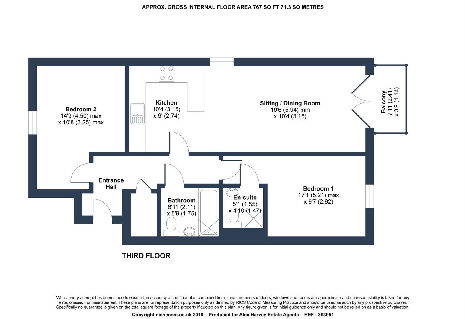 Floorplan for Lower Tanbridge Way, Horsham